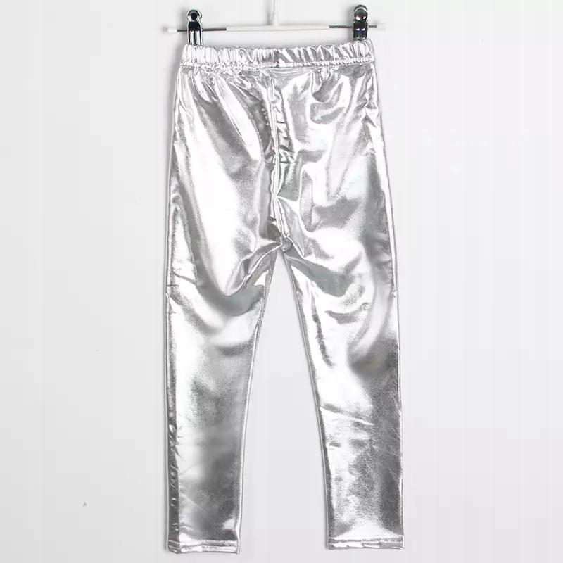 Spodnie leginsy srebrne 110
