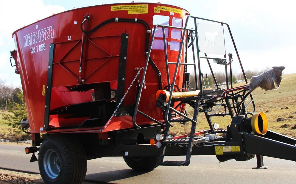 Wóz paszowy METAL-FACH T659 BELMIX OPTIMAL 7m3