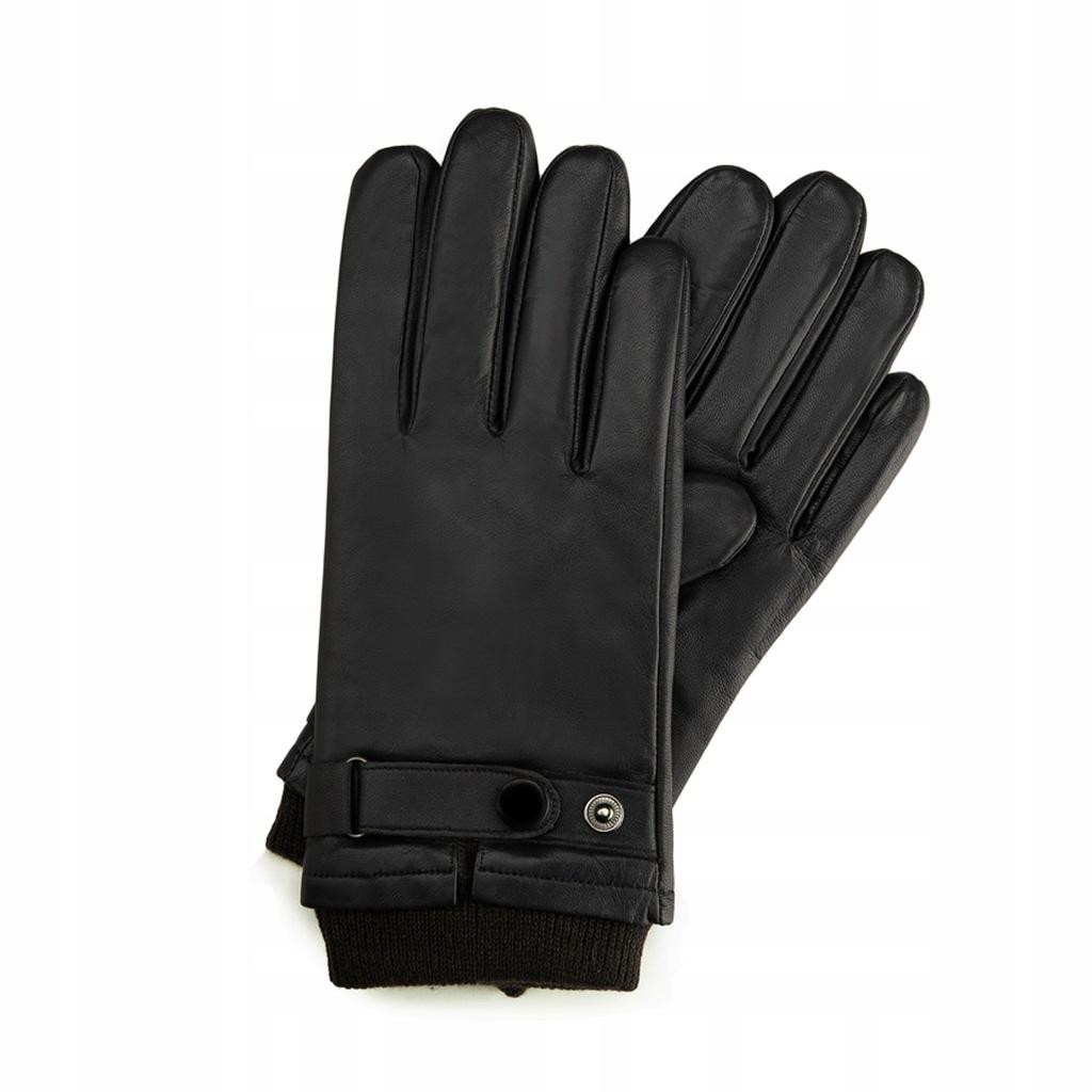 Rękawiczki Wittchen skórzane męskie 39-6-704-1 L