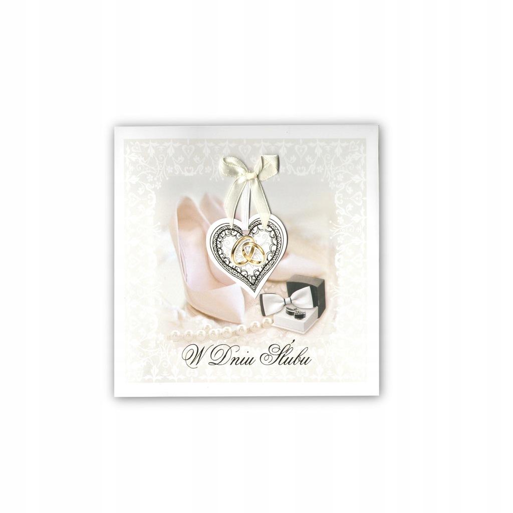 kartka karnet z życzeniami ślubne na ślub album
