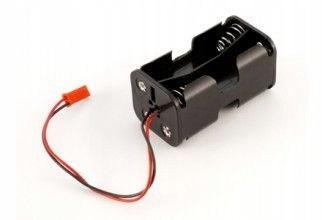 Koszyczek kostka na 4 akumulatory R6/AA z wyjściem