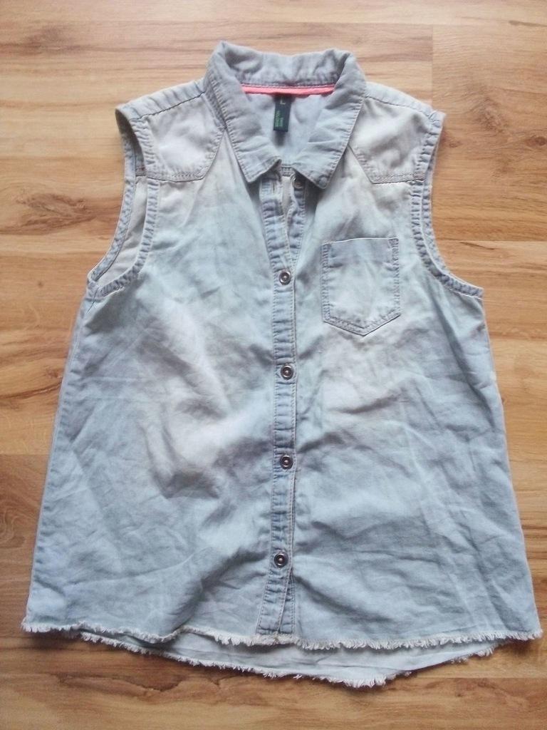 Benetton bluzeczka dżins 134 cm 8- 9 lat bdb