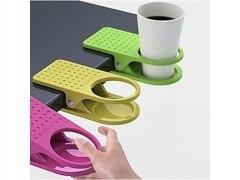 Uchwyt uniwersalny na kubek klips do stołu biurka
