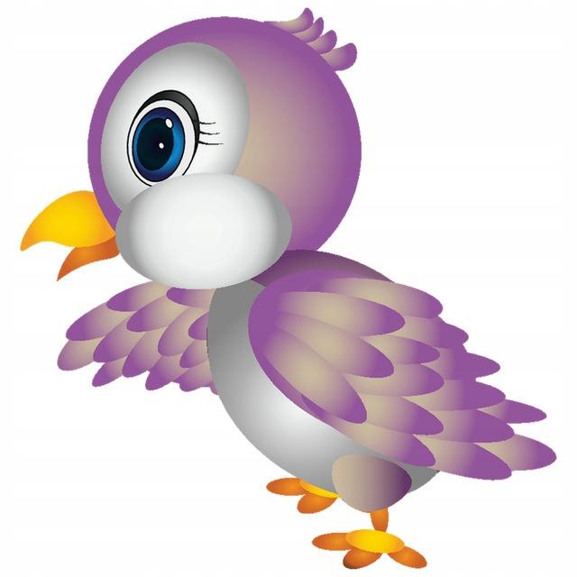 NAKLEJKA NA SCIANE KOLOR Mała papuga 10x10