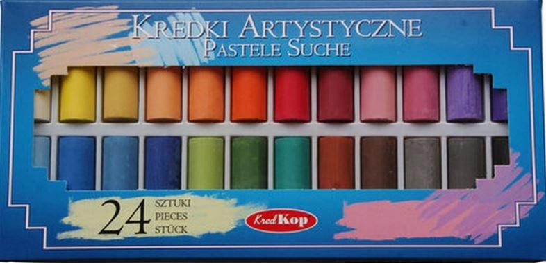 Kredki artystyczne Pastele suche 24 szt Poppido