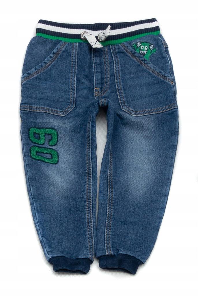 BS394 Wygodne jeansy szeroka guma GEORGE 92/98