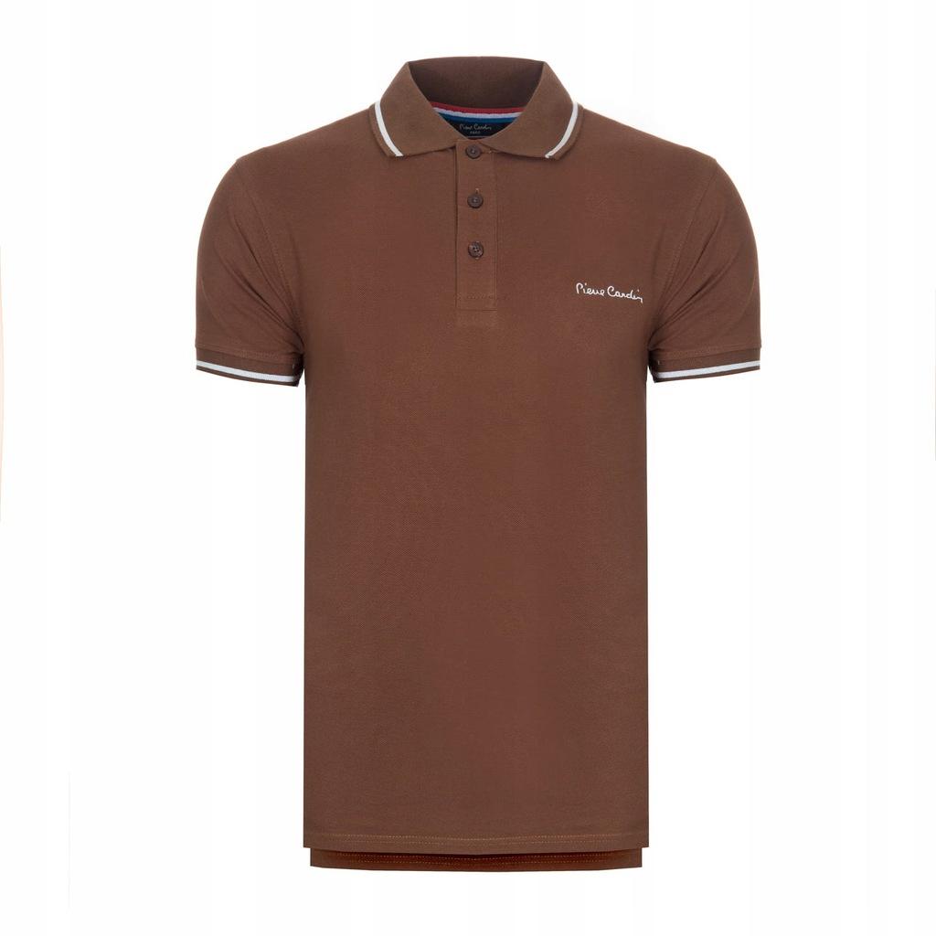 Koszulka polówka POLO PIERRE CARDIN brązowe M