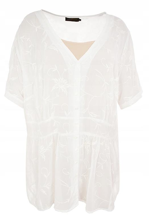pAJ6909 BPC biała modna bluzka z haftem 54