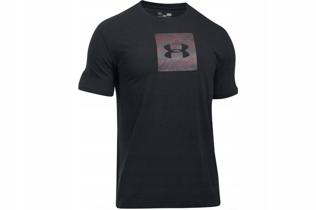UNDER ARMOUR CAMO BOXED LOGO S (XS) Męski T-shirt