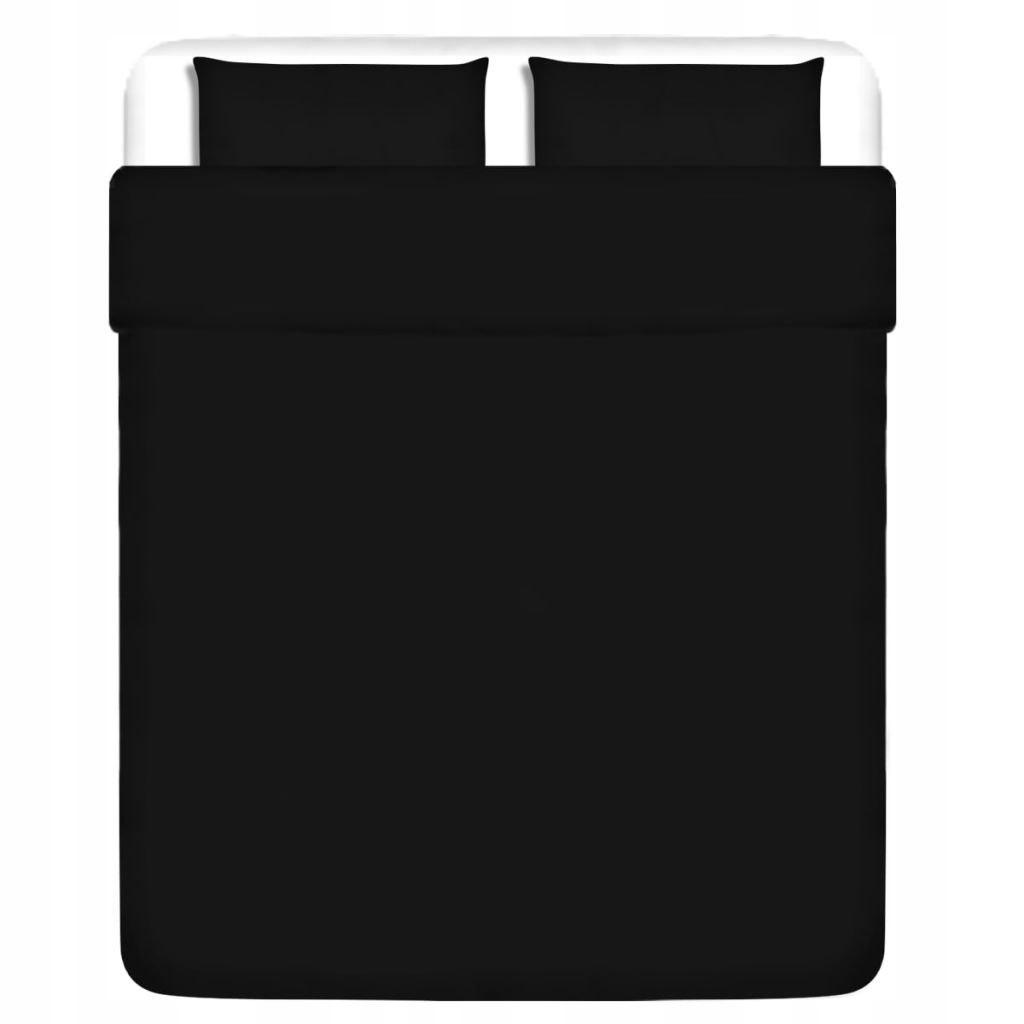 Trzyczęściowy komplet pościeli, bawełniany, czarny