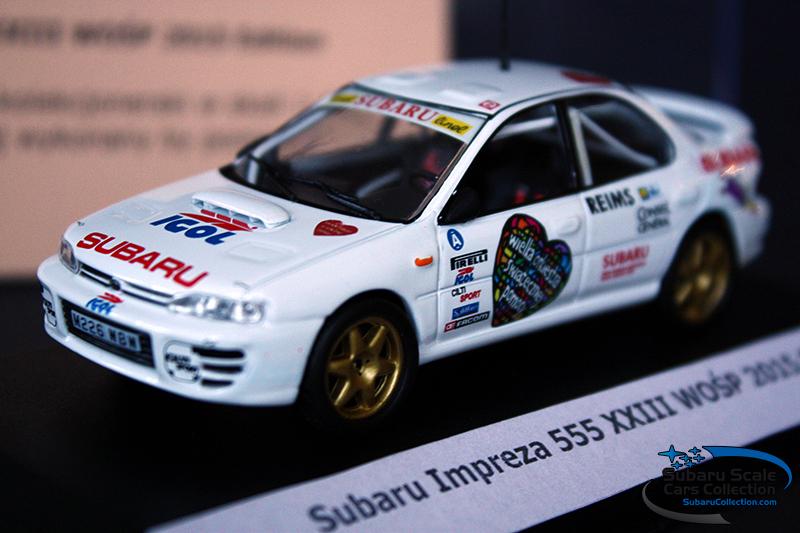 Subaru Impreza WOŚP 2015 Ed model 1/43 Rally Car