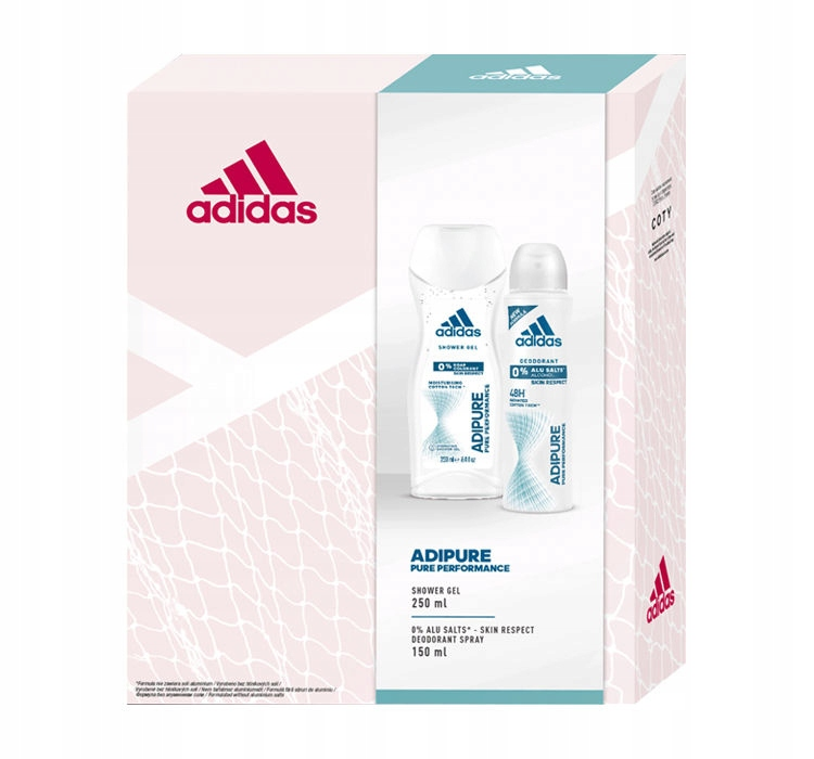 Adidas Adipure dezodorant 150ml + żel 250ml zestaw
