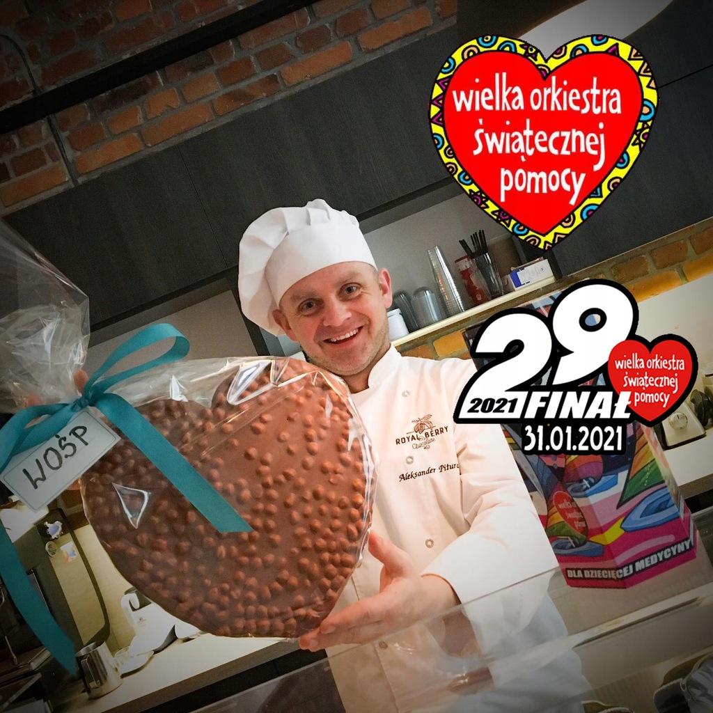 Serce z czekolady Royal Berry Zgorzelec - 700g
