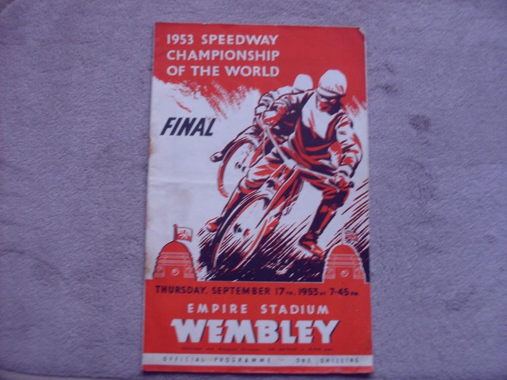 1953 Wembley Finał IMŚ - wypisany