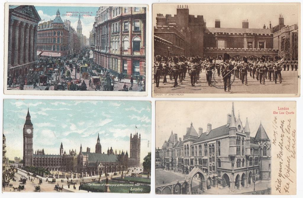 Stare pocztówki LONDYN ( 4 szt. ) 4L55