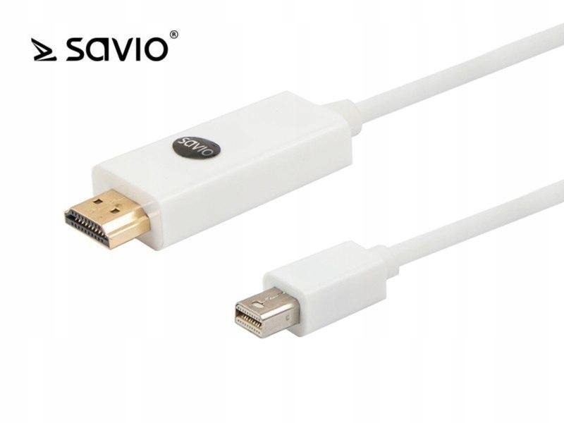 SAVIO CL-83 Kabel mini DisplayPort M - HDMI AM, po