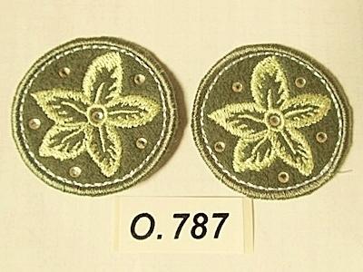 Kwiaty z filcu odc.ziel śr.40mm O.787 A - 18szt