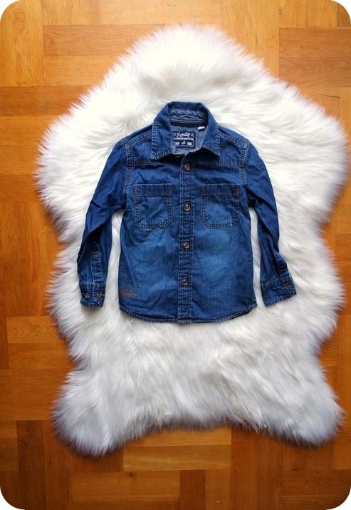 KOSZULA jeansowa modna ŚLICZNA 98 2-3 L CHŁOPIEC