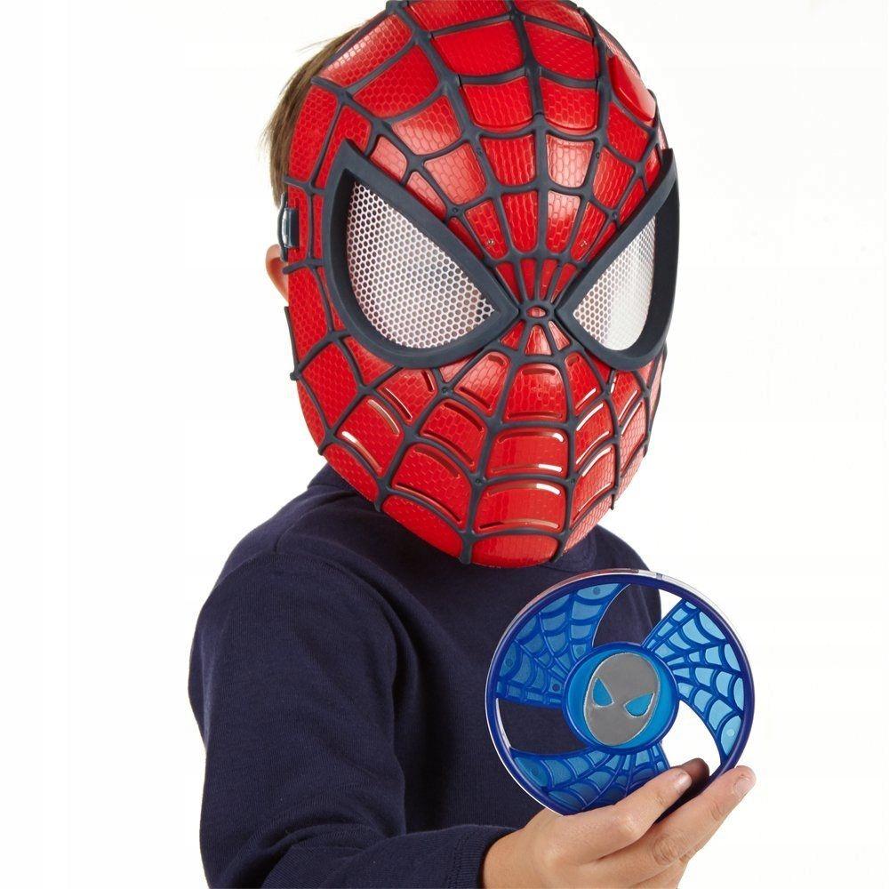 Spiderman SOLIDNA ŚWIECĄCA MASKA SPIDERMANA DYSKI