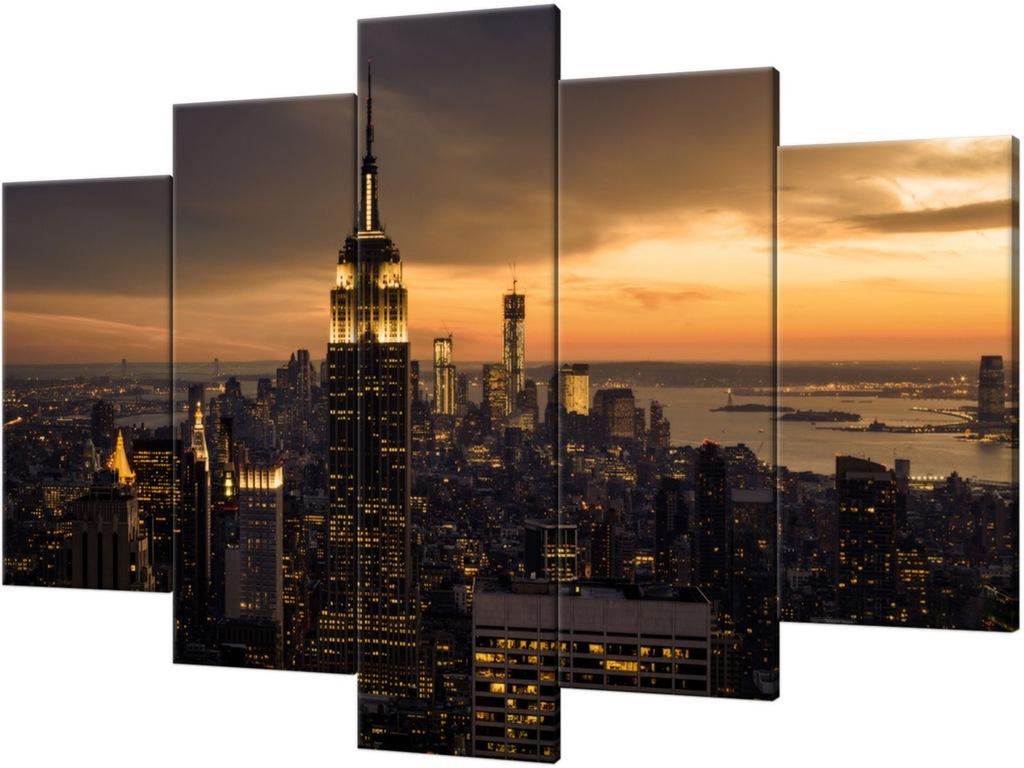 Obraz 150x100 Miasto Nowy Jork o świcie