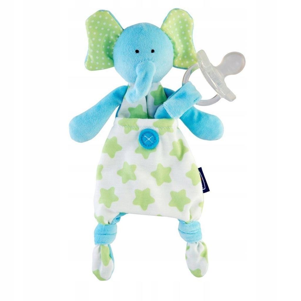 Chicco Pocket Friend 0m+-niebieski sloń Maskotka d