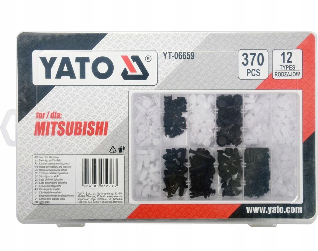 Spinki samochodowe MITSUBISHI 370szt YATO YT-06659