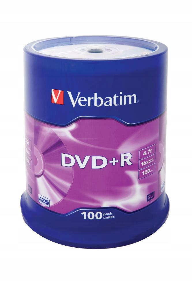 Płyty DVD+R 4,7 GB Verbatim x16 70 szt SUPER CENA
