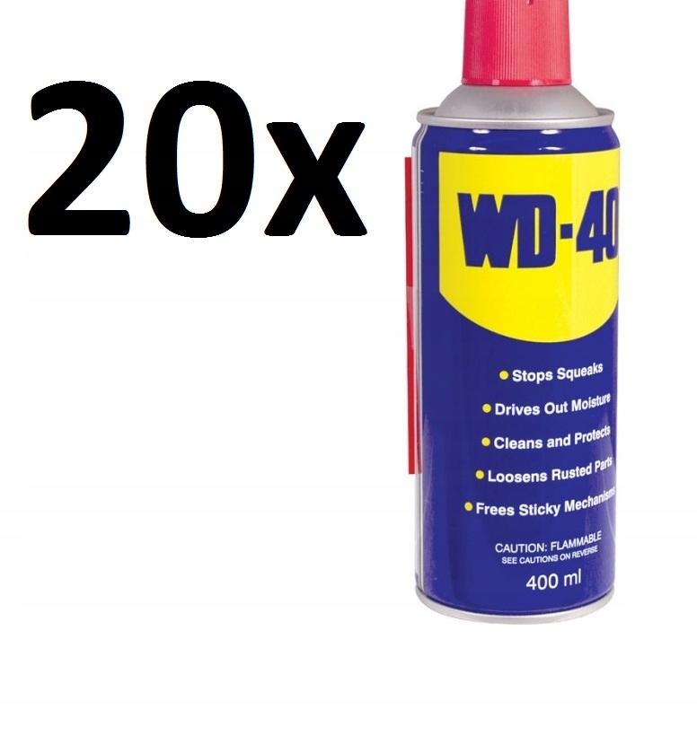 20x WD40 WD-40 APLIKATOR ODRDZEWIACZ DO ŚRUB 400ml