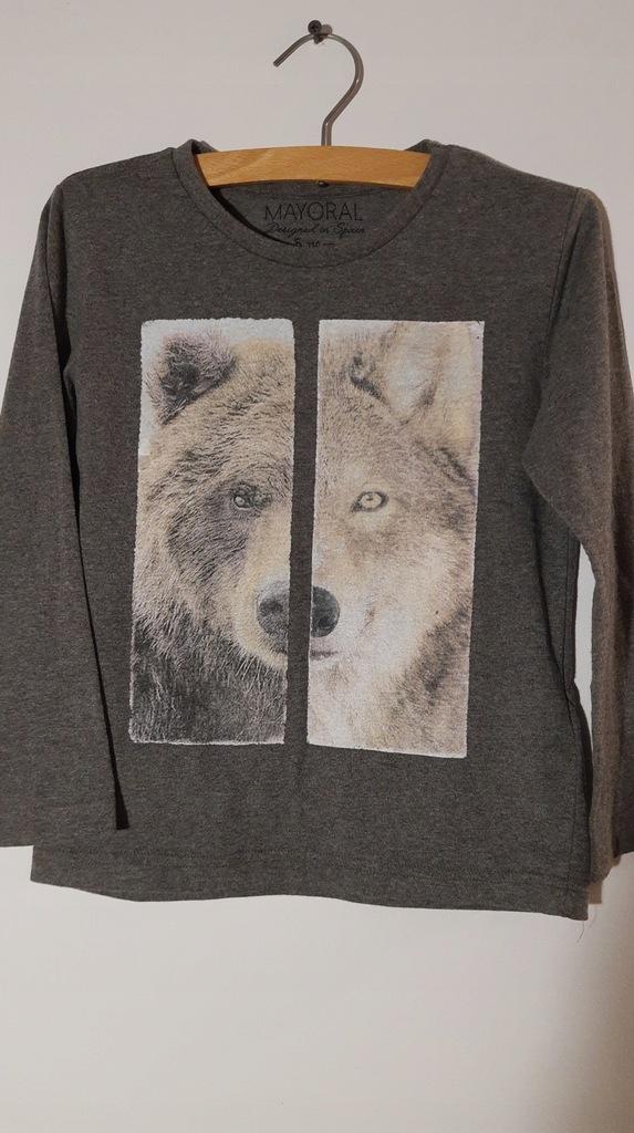 MAYORAL koszulka z wilkiem 110