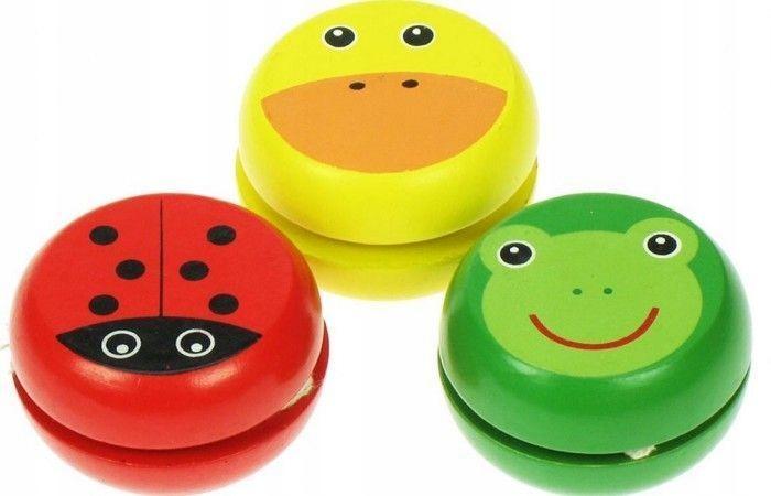 Drewniane jojo kolorowe dla dzieci Zabawka Bigjigs