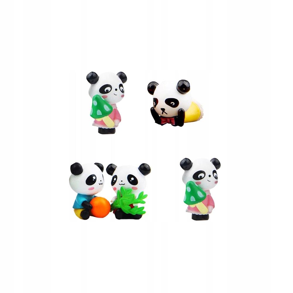 5 sztuk urocza Panda dekoracja zabawna panda