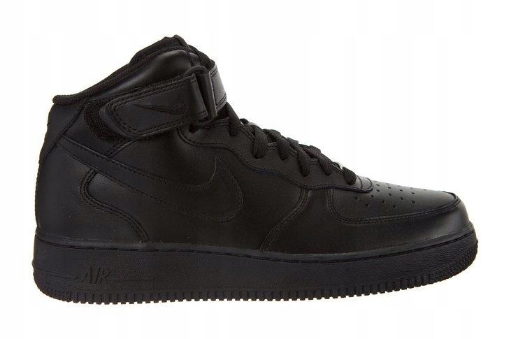 Nike Buty air force 1 prm emb (gs) av0750 001 blackblack