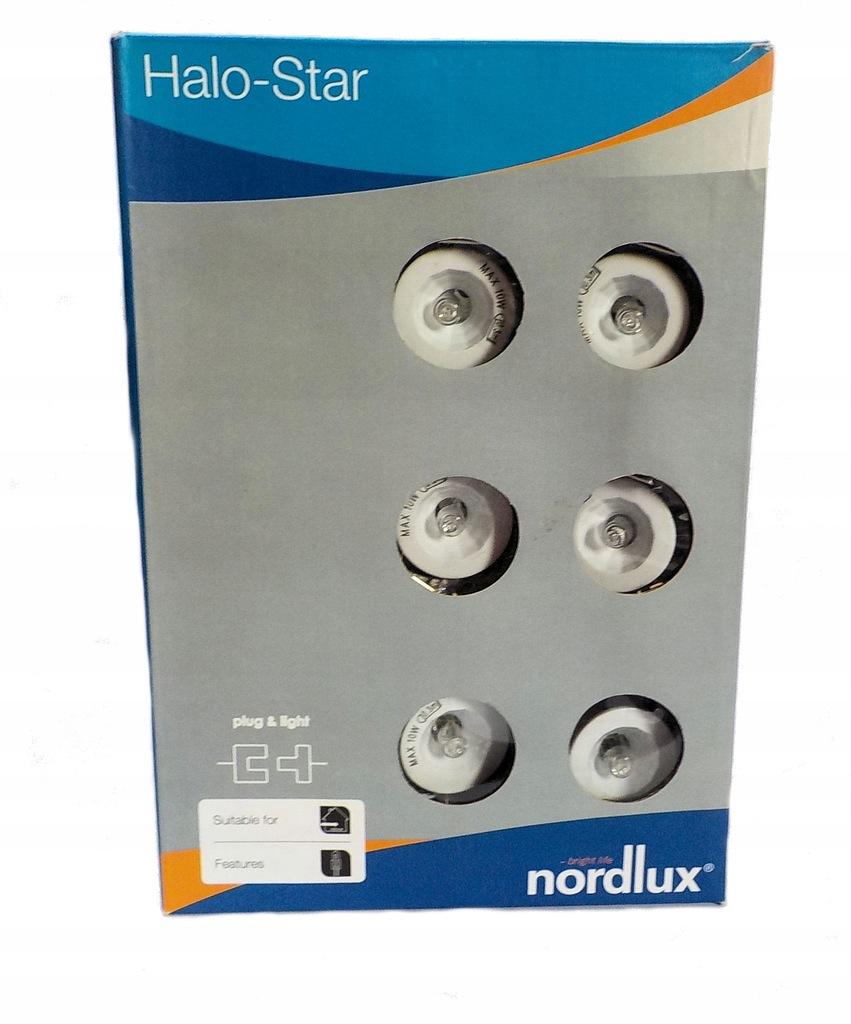 Nordlux zestaw 6 oczek oczko oczka halogenowe