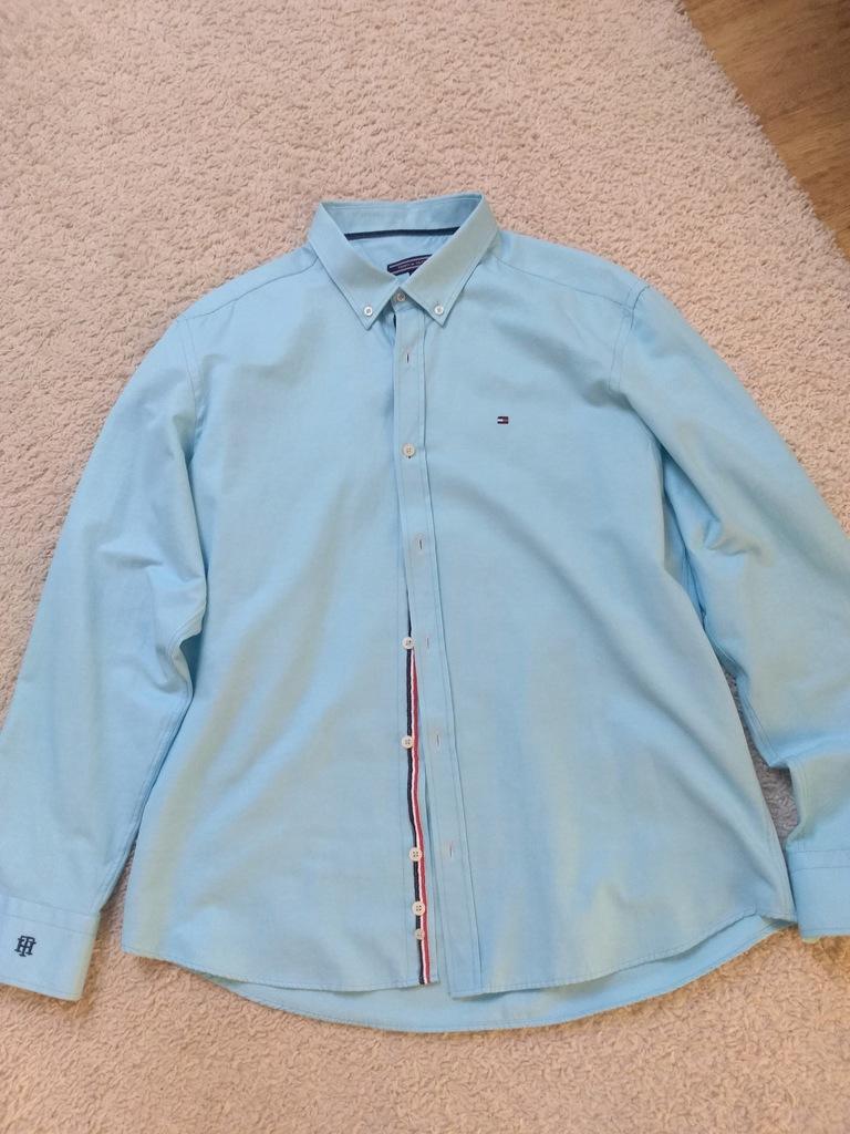 Koszula Tommy Hilfiger niebieska jak nowa XL