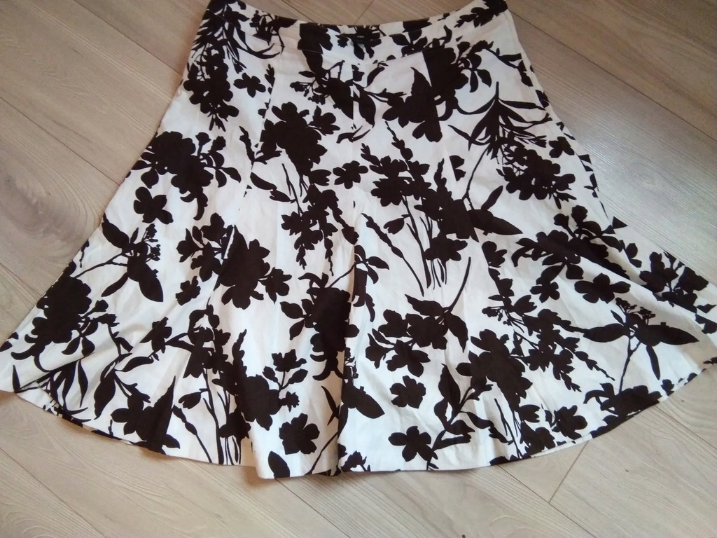 H&M spódnica biała kwiaty rozm 16