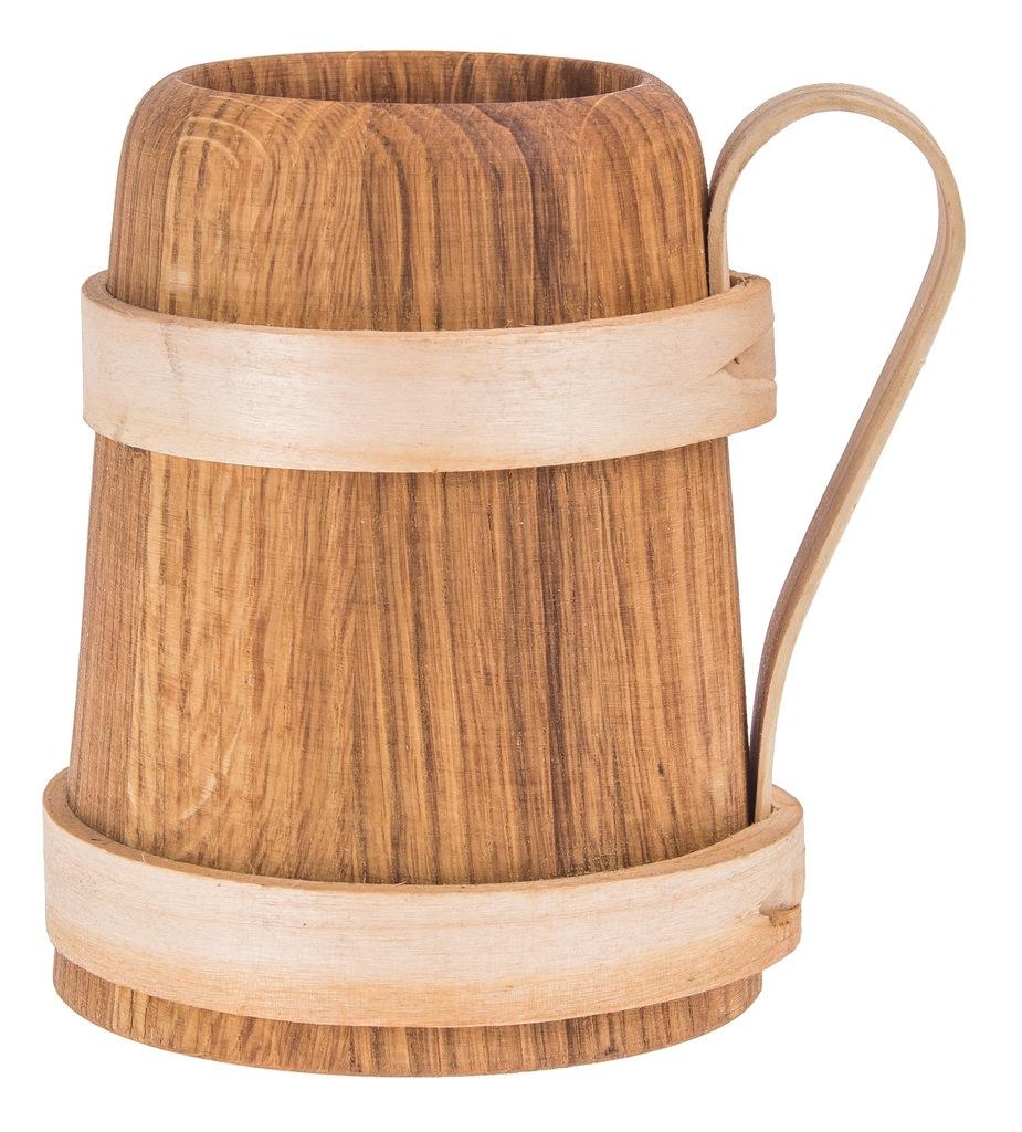KUFEL drewniany na PIWO kubek PREZENT 500ml EKO