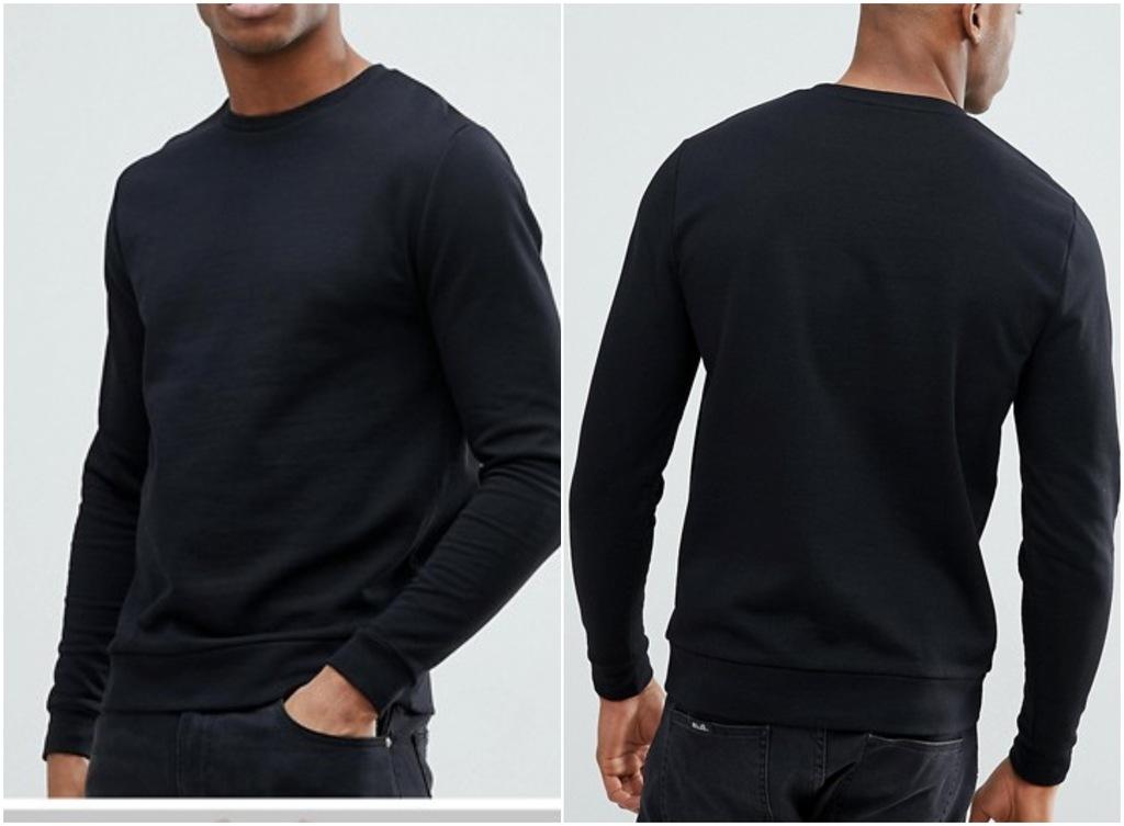 @417 bluza czarna z długim rękawem męska M