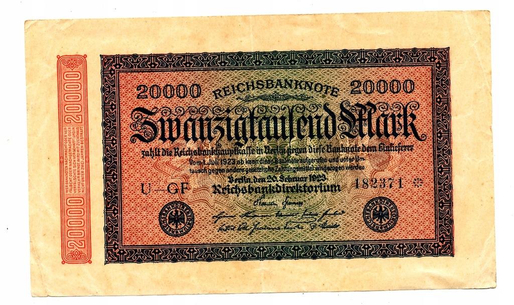20 000 marek 1922 po numerze rozetka