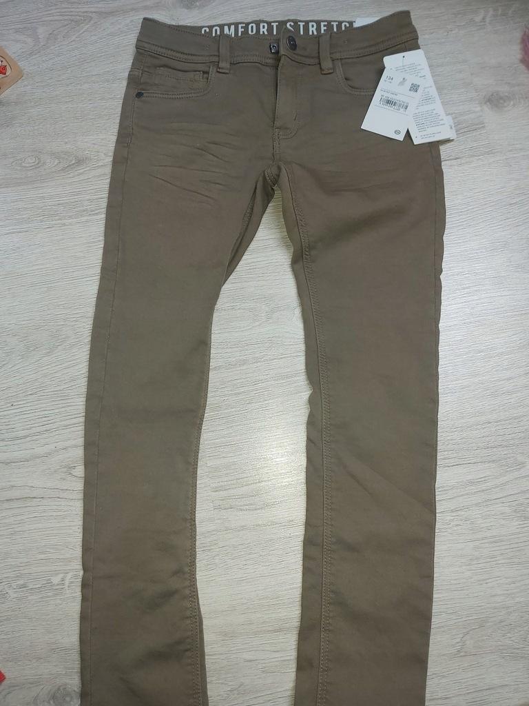 C&A 134 ocieplane spodnie materiałowe NOWE