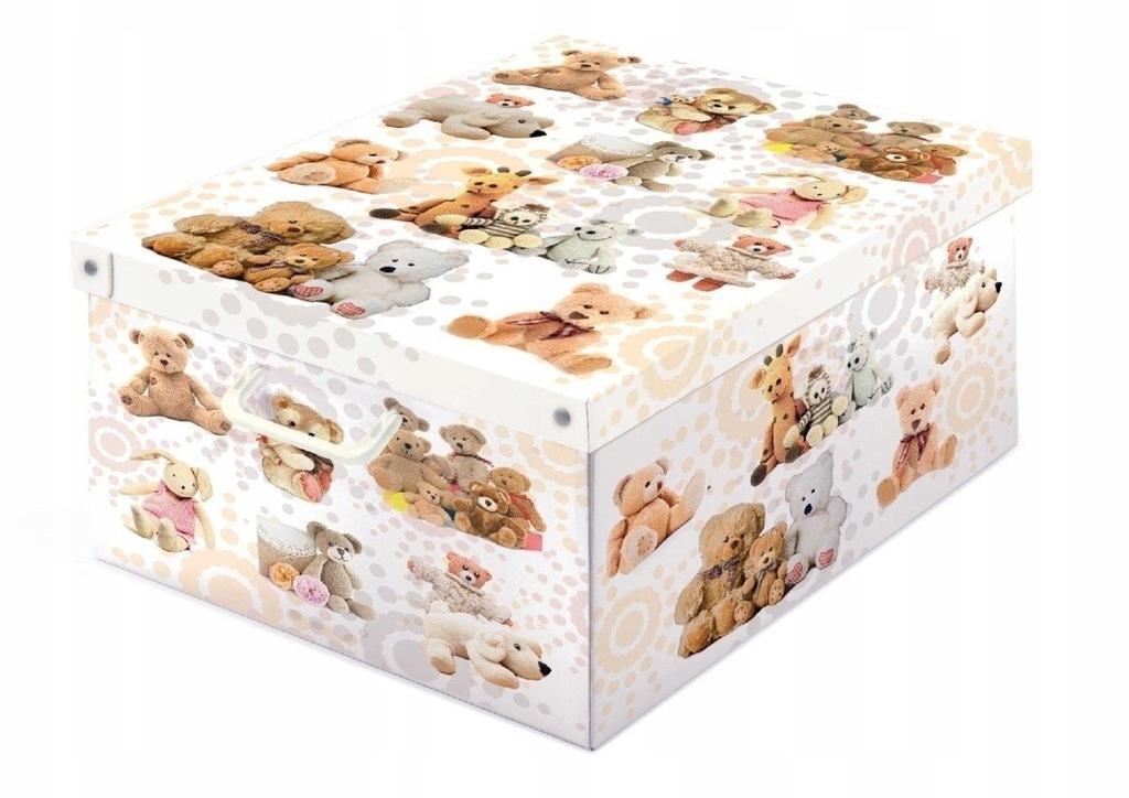 Pudełko dekoracyjne kartonowe MAXI MISIE