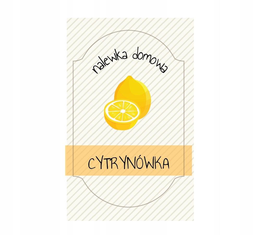 Naklejki Butelki Nalewki Cytrynowka Malina Sylw 8327527697