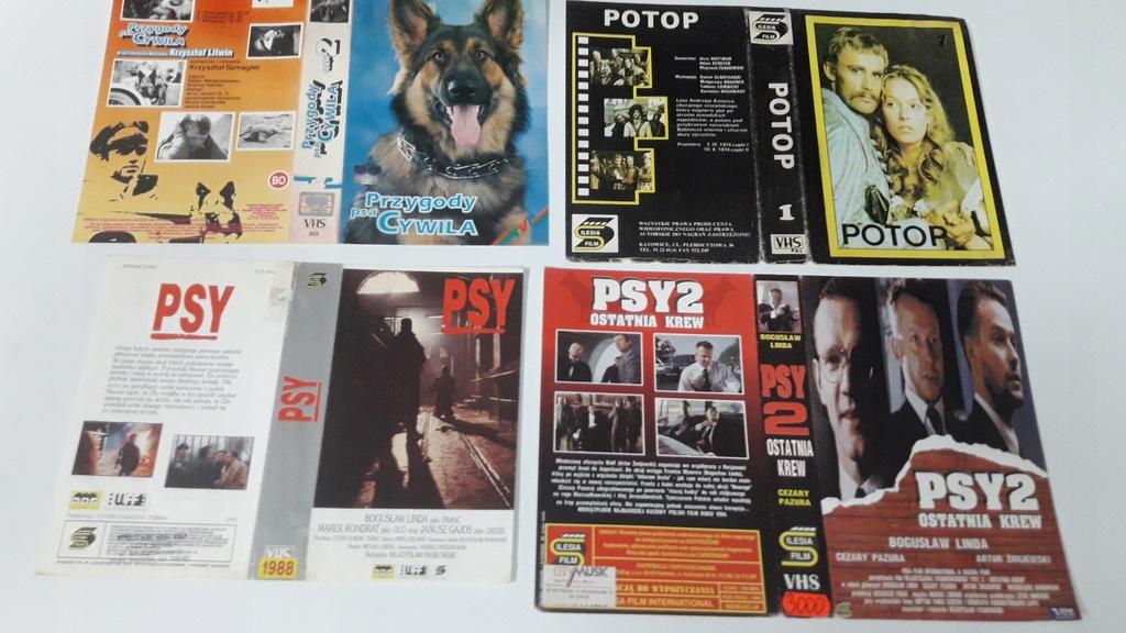 A-0829 pakiet 8 okładek kaset vhs