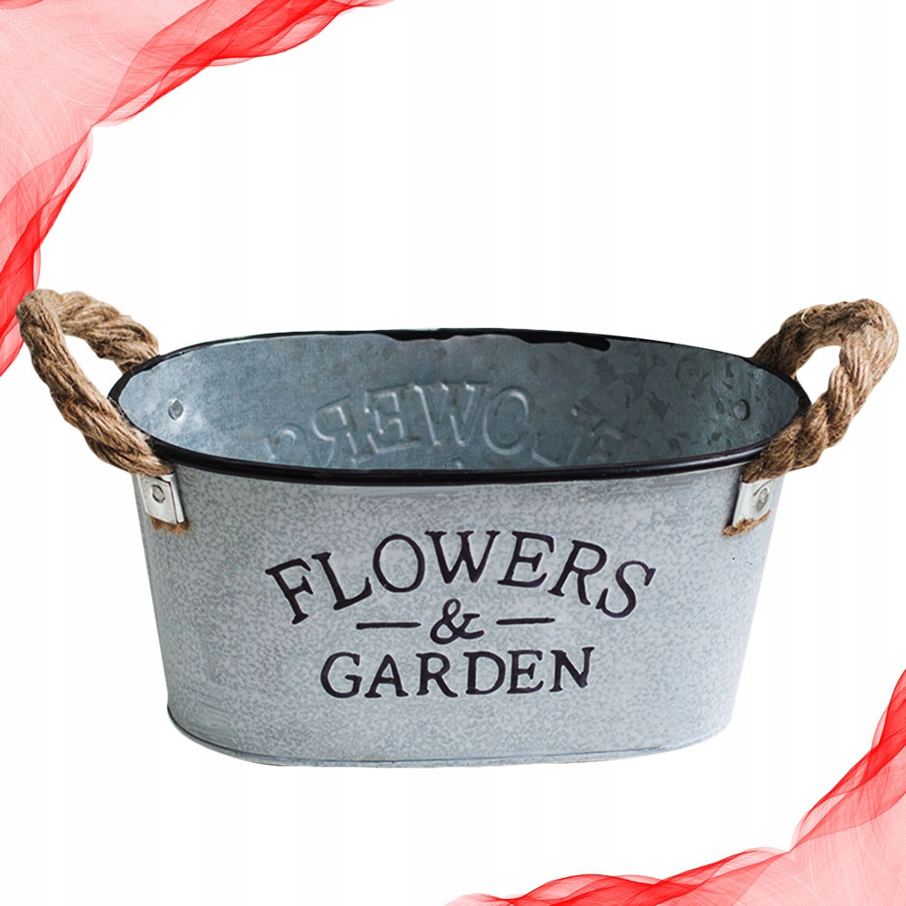 Wazon na kwiaty w stylu amerykańskiej wioski Żelaz
