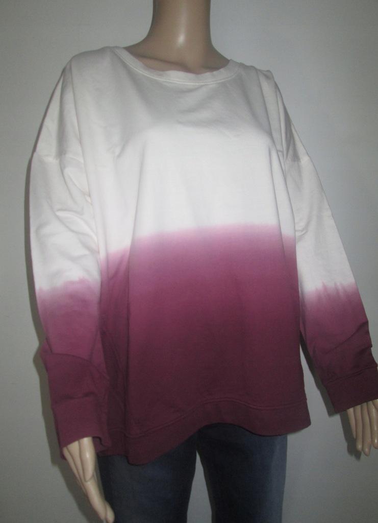 B1276 bluza ombre biało różowa 46 XXXL
