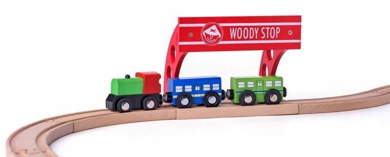 Zabawki dla dzieci Drewniany przystanek kolejowy