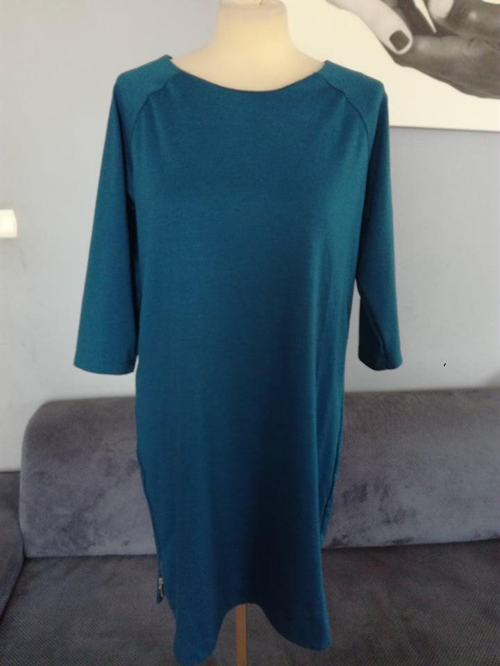 RESERVED r.44/46 sukienka STAN BDB elegancka ZAMEK