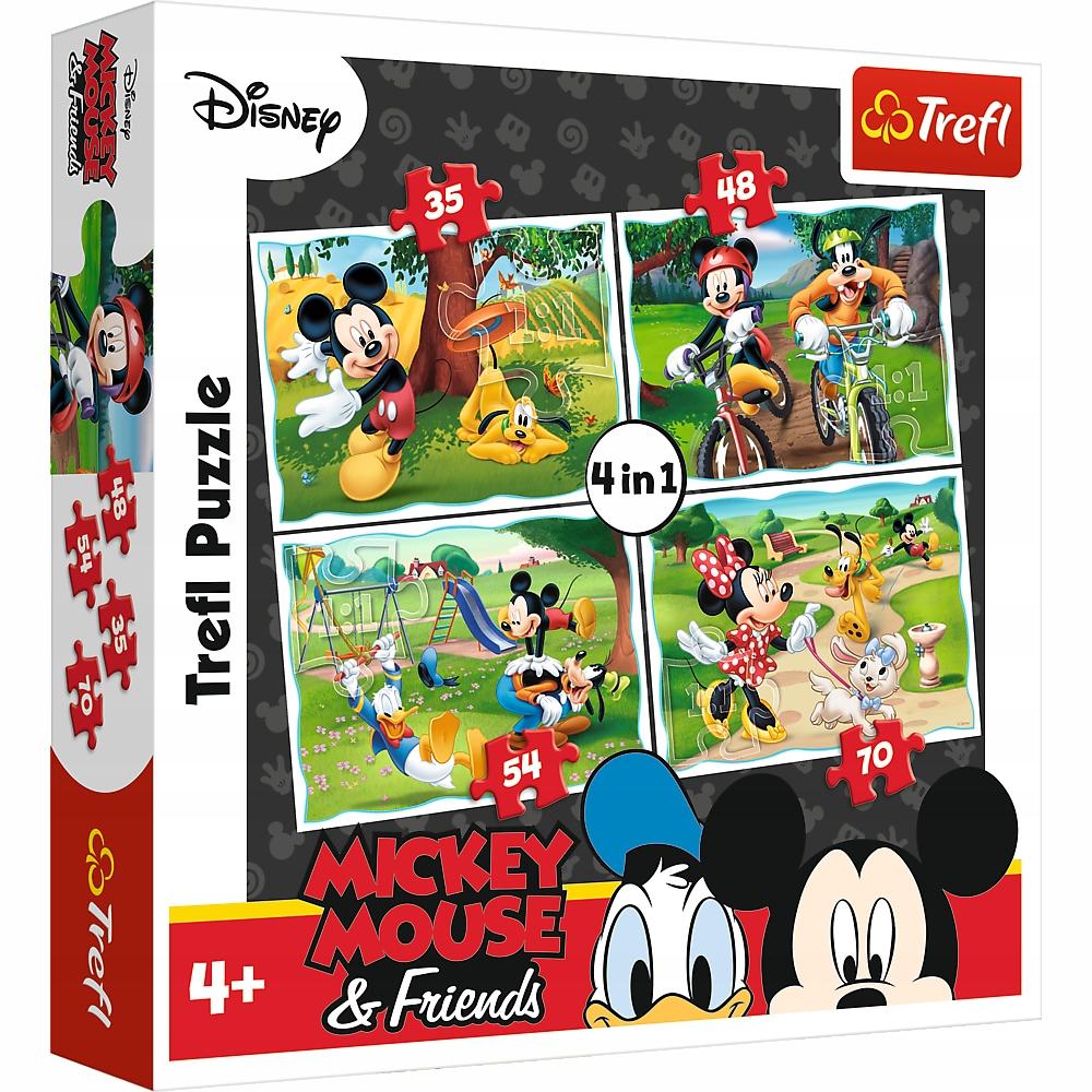 Puzzle 4w1 Myszka Miki 34261 Trefl