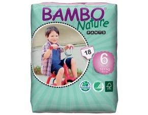 Eko pieluchomajtki BAMBO NATURE 6 XL 18+kg 18szt