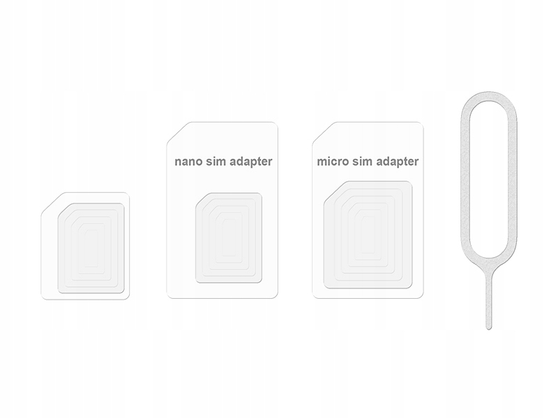 Adapter Micro Nano SIM iPhone 4 5 iPad SAMSUNG 4w1
