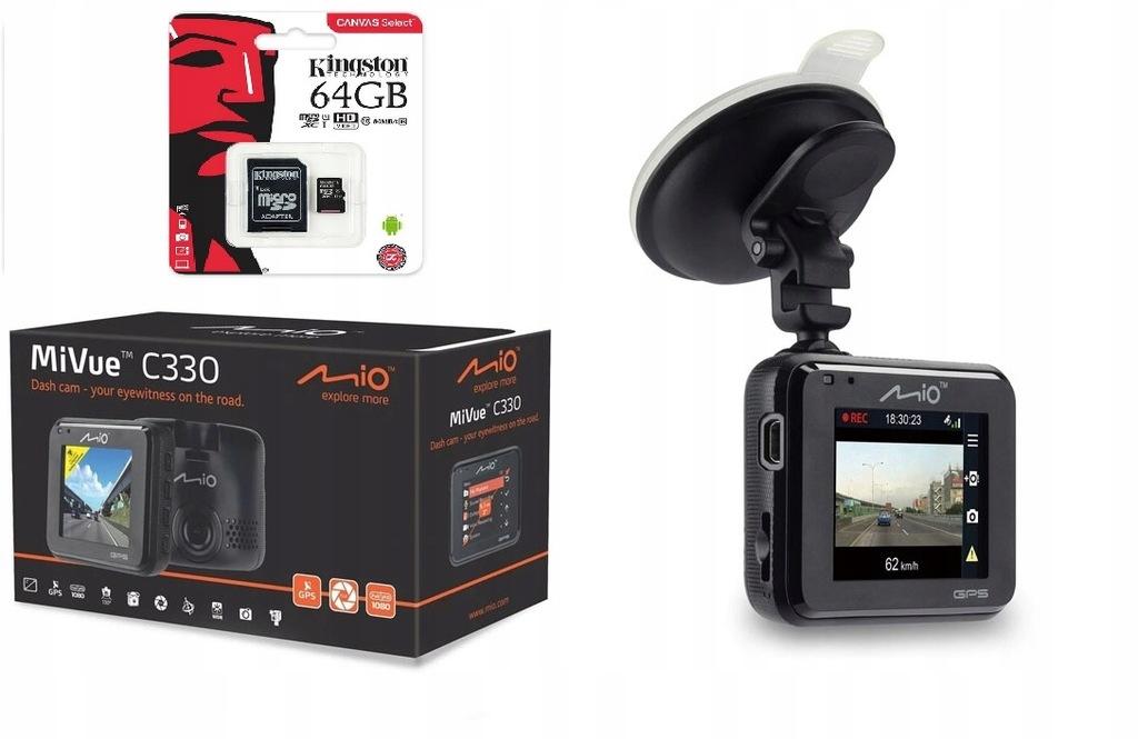 Wideorejestrator Mio MiVue C330 GPS FHD 64GB